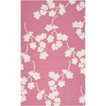 "Surya Jill Rosenwald Fallon Bright Pink (FAL-1064) Rectangle 5'0"" x 8'0"""