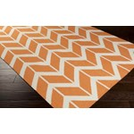 "Surya Jill Rosenwald Fallon Papaya (FAL-1081) Rectangle 3'6"" x 5'6"""
