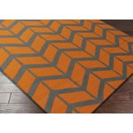 "Surya Jill Rosenwald Fallon Burnt Orange (FAL-1089) Square 1'6"" x 1'6"""