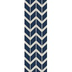 "Surya Jill Rosenwald Fallon Sapphire Blue (FAL-1093) Rectangle 2'6"" x 8'0"""