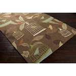 "Surya Rain Hot Cocoa (RAI-1127) Rectangle 2'0"" x 3'0"""