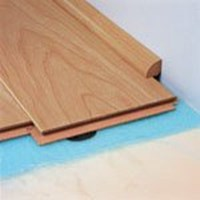 "Quick-Step Eligna:  Quarter Round Dark Varnished Cherry Double Plank - 94"" Long"