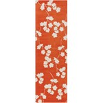 "Surya Jill Rosenwald Zuna Orange-Red (ZUN-1066) Rectangle 2'6"" x 8'0"""