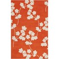 Surya Jill Rosenwald Zuna Orange-Red (ZUN-1066) Rectangle 5